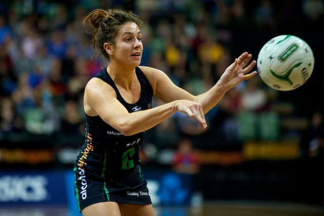 Ashleigh Brazill of West Coast Fever Passing Ball 2012